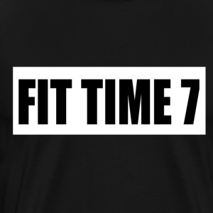 FITTIME7 WHITE BACKGROUND - Men's Premium T-Shirt