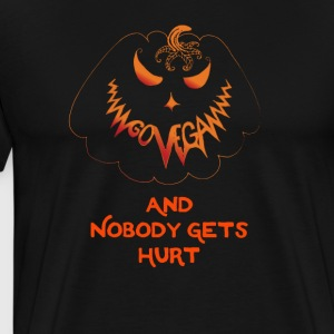 go vegan and nobody gets hurt Halloween - Men's Premium T-Shirt