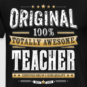 Originele 100% Awesome Teacher - Mannen Premium T-shirt