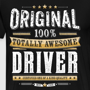 Originele 100% Awesome Driver - Mannen Premium T-shirt