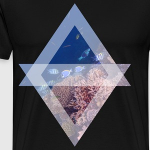 Surgeonfish on the reef - Men's Premium T-Shirt