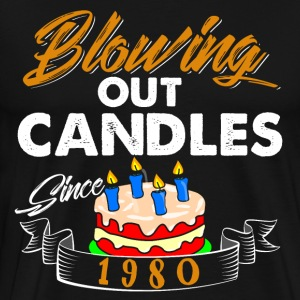 Blowing Out Candles Since 1980 - Men's Premium T-Shirt