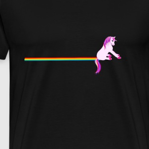 Unicorn Rainbow sliding - Mannen Premium T-shirt