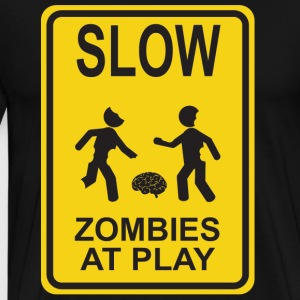 Slow Zombies at Play - Men's Premium T-Shirt