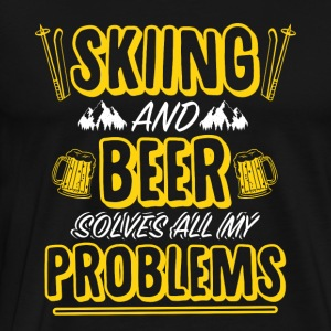 Skiing and beer - Men's Premium T-Shirt