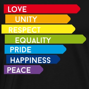 Gay pride csd rainbow homo parade proud marriage lol - Men's Premium T-Shirt