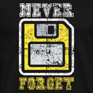 Never Forget Diskette - Men's Premium T-Shirt