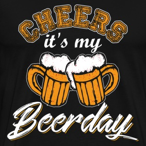 Cheers Its My Beerday - Men's Premium T-Shirt