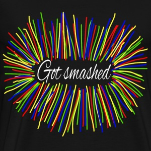 Geek Fun Sports Smashed Colorsticks Blast - Men's Premium T-Shirt