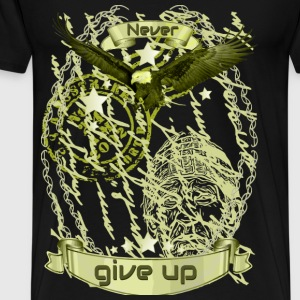 Never give up collection gold eagle 1 - Men's Premium T-Shirt
