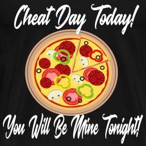 Låg Carb fuska dag Pizza Carbs Diet Ketogenic - Premium-T-shirt herr