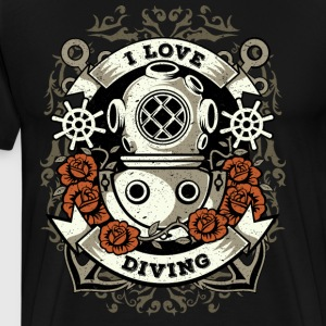 I Love Diving - Diver skjorte - Premium T-skjorte for menn