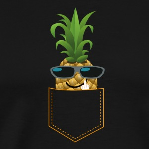 PINEAPPLE FUCK YOU cool guy ananas zonnebril - Mannen Premium T-shirt