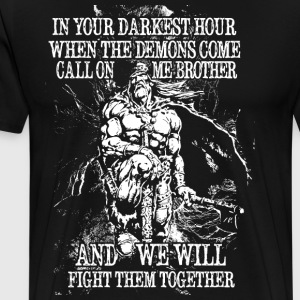 In your darkest hour call on me (light) - Men's Premium T-Shirt