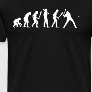 human EVOLUTION BASEBALL - Herre premium T-shirt
