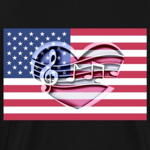 American flag music notes Patriot patriots - Men's Premium T-Shirt