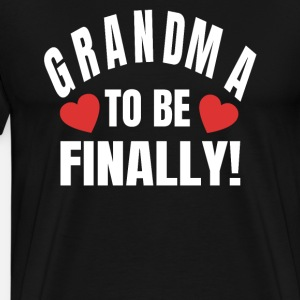 Grandma To Be Finally Grandma Offspring Shirt
