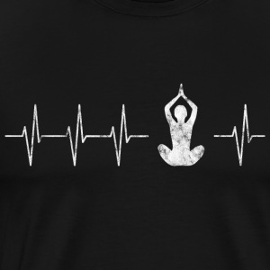 Yoga heart beat - Men's Premium T-Shirt