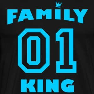 Family King with crown - light blue - Men's Premium T-Shirt