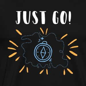 JUST GO gift Travel World Trip Journey Emigrant - Premium-T-shirt herr