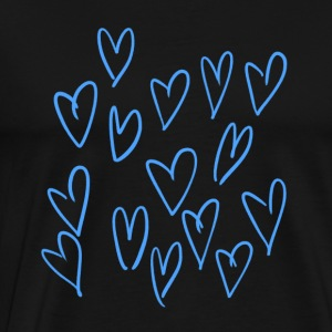 The blue hearts <3 - Men's Premium T-Shirt