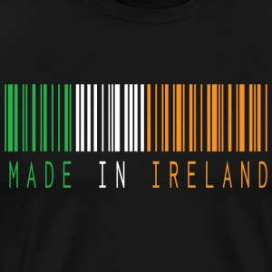 MADE IN IRELAND BARCODE - Premium T-skjorte for menn