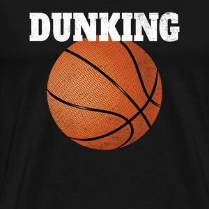 Basketball T-Shirt Dunking Grunge - Men's Premium T-Shirt