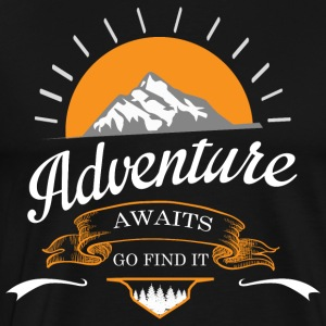 Adventure venter - Herre premium T-shirt