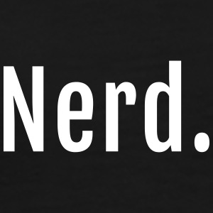 Nerd lettering with dot - Men's Premium T-Shirt