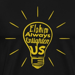 Elohim Enlighten Us - Mannen Premium T-shirt