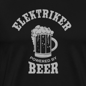 ELETRIKER powered by Beer - Männer Premium T-Shirt