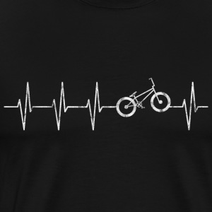 Heartbeat BMX Wheel - Men's Premium T-Shirt