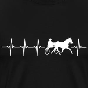 I love horse driving (heartbeat) - Men's Premium T-Shirt
