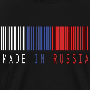 MADE IN RUSLAND BARCODE - Herre premium T-shirt
