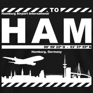 Hamburg Airport HAM Supporter - Premium-T-shirt herr