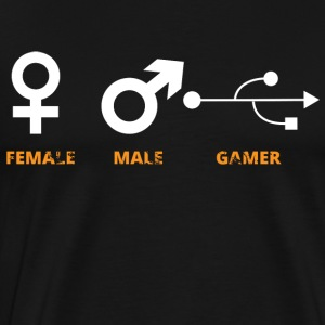 Shirt for gamer friends funny MAnn and Mrs. Lan - Men's Premium T-Shirt