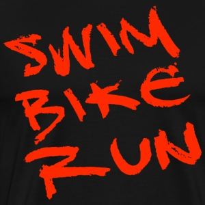 Triathlon: Swim Bike Run - Men's Premium T-Shirt