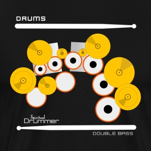 Drums Double Bass White - T-shirt Premium Homme