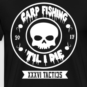 CARPFISHING TIL I THE WHITE CIRCLE - Men's Premium T-Shirt