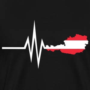 My heart beats for Austria - home country - Men's Premium T-Shirt