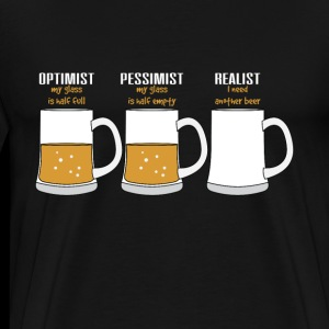 Réaliste Quote TShirt Design Beer Glass