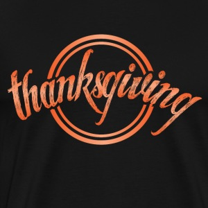 Thanksgiving Erntedank November turkey circle - Men's Premium T-Shirt