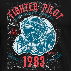 1983 Retro Fight Pilot motiv. - Premium-T-shirt herr