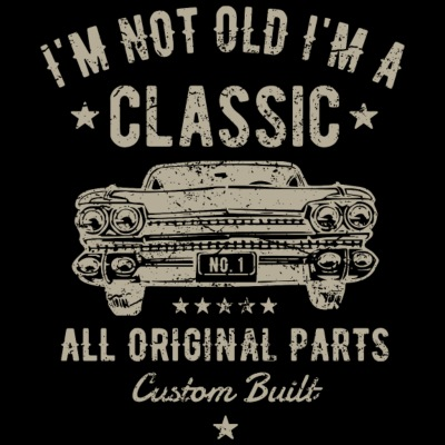 En ole Minä olen Classic Vintage Car Vintage Paita 837f503fe2