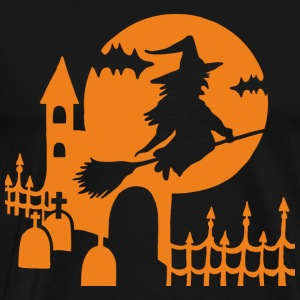 Halloween - witch cemetery - orange - Men's Premium T-Shirt