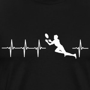 I love rugby (rugby heartbeat) - Men's Premium T-Shirt