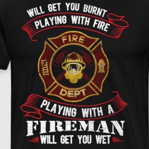 Funny firefighter shirt - Men's Premium T-Shirt