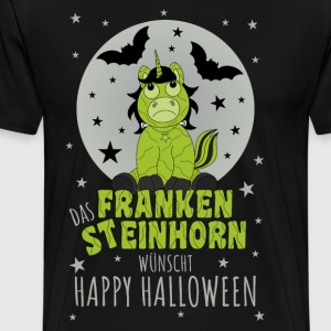 The Frankensteinhorn wishes Happy Halloween gray - Men's Premium T-Shirt