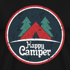 TENT CAMP BRANN: HAPPY CAMPER GIFT - Premium T-skjorte for menn