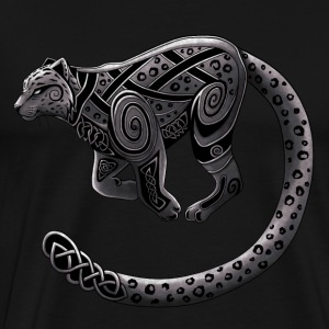 Celtic Snow Leopard (Vintage / Gray-Black) - Men's Premium T-Shirt